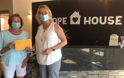 Westwood's Ladies 9 Hole Group Drops Off Check at Hope House